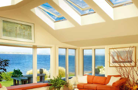 Manual venting skylight FV