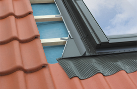 Insulated THERMO high profile flashing EH-A, EH-AT for profiled roofing materials