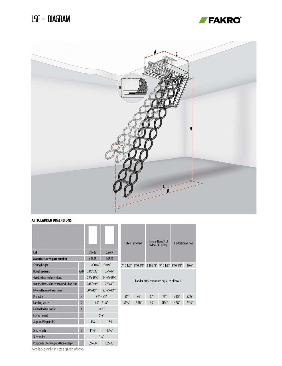 Metal Scissor Attic Ladders Lst Lsf Fakro